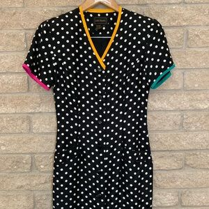 Dresses & Skirts - 🌱Vintage Silk Studio Polka Dot Silk Dress